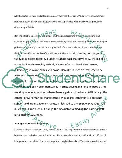 Impact of Stress on Nursing