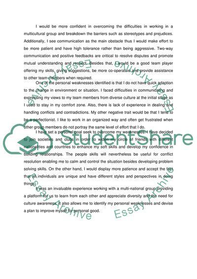 Reflected appraisal essay