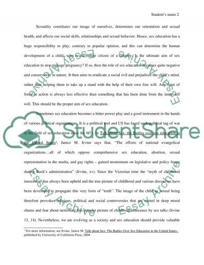 Sex Education Essay essay example
