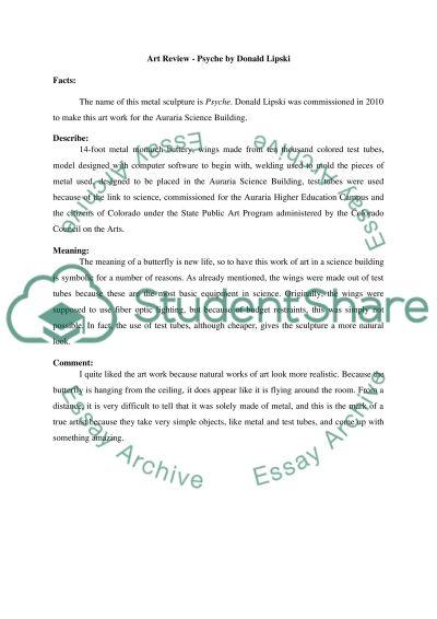 Art essay example