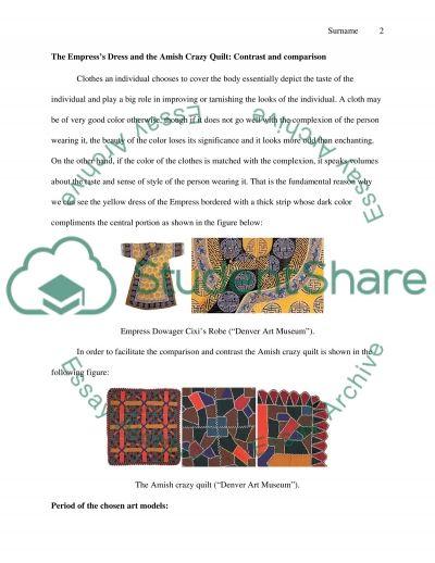 Textile ARt Models Comparison and Contrast