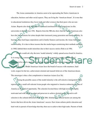 Bullying Essay Thesis Asian American Model Minority Example English Essay also Analysis Essay Thesis Example Asian American Model Minority Essay Example  Topics And Well  Frankenstein Essay Thesis