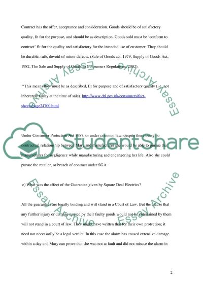 CONTRACT LAW ASSIGNMENT 5 essay example