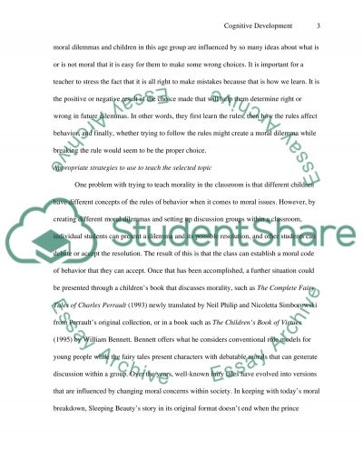Cognitive Development and Cognitive Views of Learning essay example