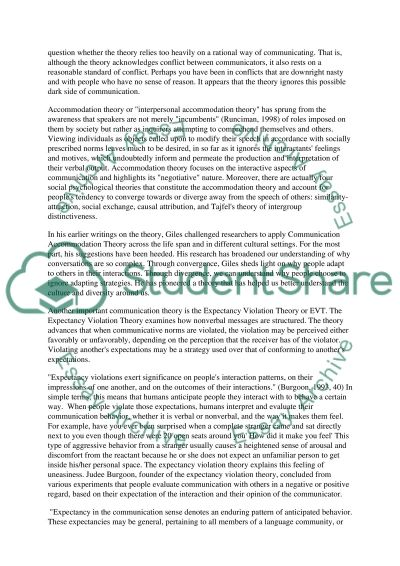 Communication Theories essay example