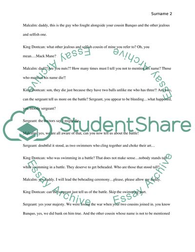 Parody Paper On Macbeth Essay Example  Topics And Well Written  Parody Paper On Macbeth