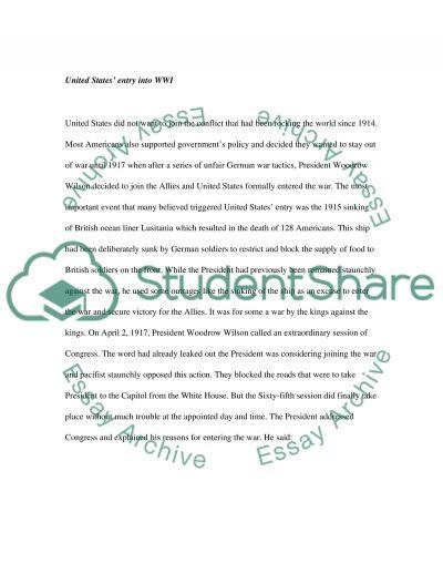 History- World War I and World War II essay example