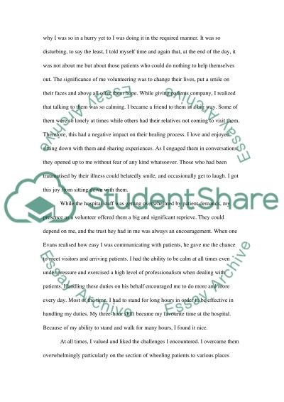 my volunteer at the massachusetts general hospital essay my volunteer at the massachusetts general hospital essay example