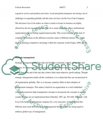 Globalization and Multinational Corporations essay example