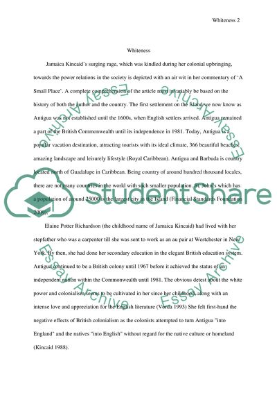 Sample Of English Essay Jamaica Kincaid Persuasive Essay Examples High School also Example Thesis Statement Essay Jamaica Kincaid Essay Example  Topics And Well Written Essays  Science Essays Topics