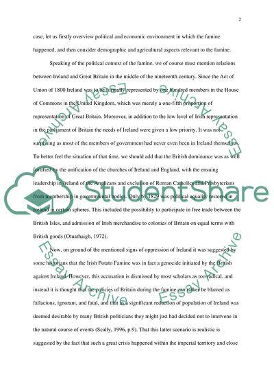 Essay on irish potato famine human resource coordinator resume examples