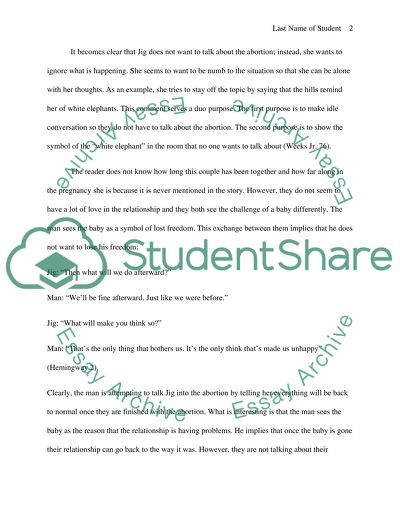 Persuasive Essay Examples High School Personal  Psychological Conflict On The Characters In Hills Like White  Elephants Essays In Science also A Thesis For An Essay Should Personal  Psychological Conflict On The Characters In Hills Like Essay Narrative Essay Thesis