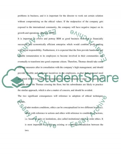 Critical Thinking in Business essay example