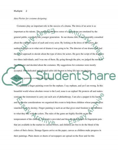 Mutiple topics essay example
