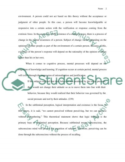 Nisbette and Wilsons Article essay example