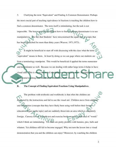 Equivalence essay example