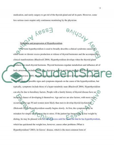 Hyperthyroidism essay example