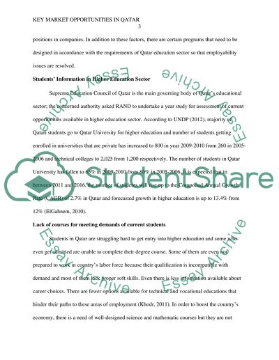REPORT ON HIGHER EDUCATION IN QATAR (Part in green3)