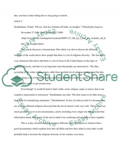 Article essay example