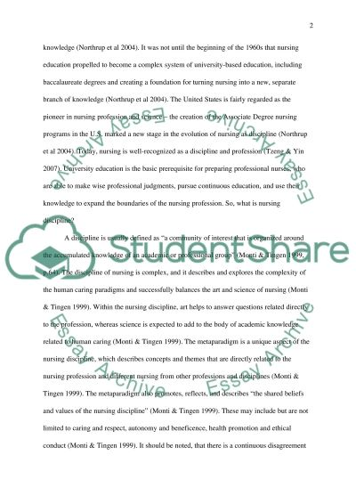 nursing as discipline essay example topics and well written  nursing as discipline essay example