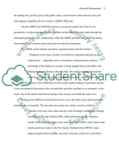 Financial Mangement Essay example