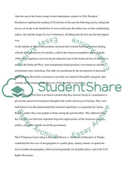 American History College Essay