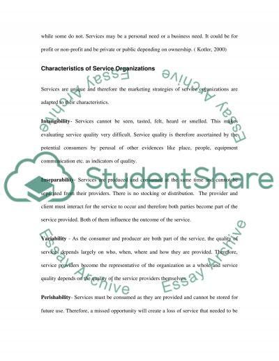 Service Marketing Essay essay example