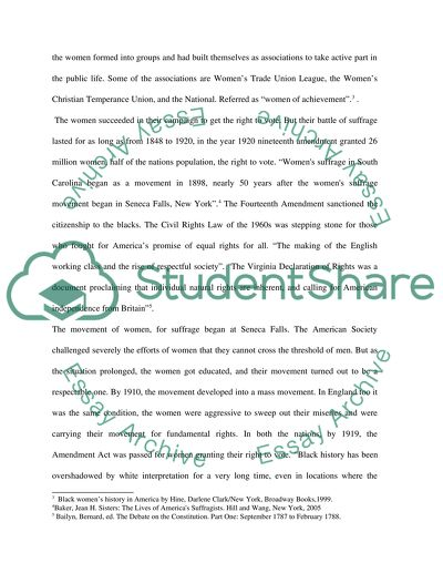 Essay on womens rights