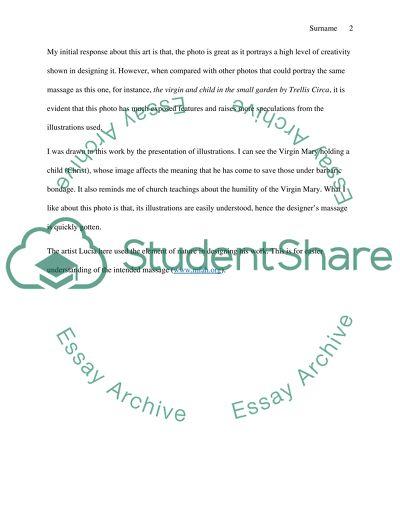 Short analysis and response paper