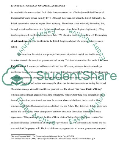 Essay About English Language Identification On American History  Essay Example Diwali Essay In English also Science And Technology Essay Identification Essay On American History Example  Topics And Well  Apa Format For Essay Paper