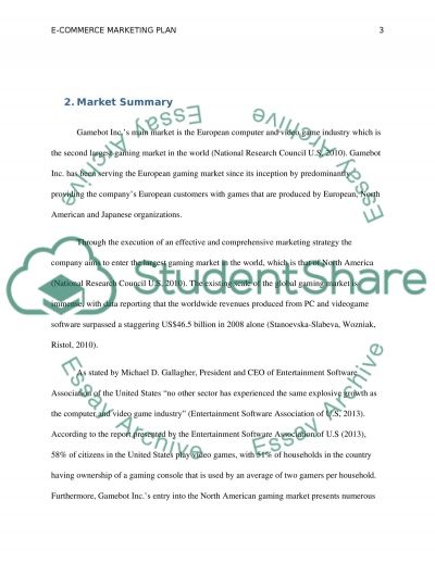 Course Project: E-Commerce Marketing Plan essay example