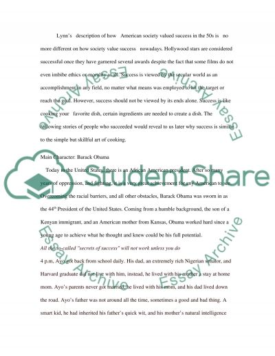 The different definitions of success essay example