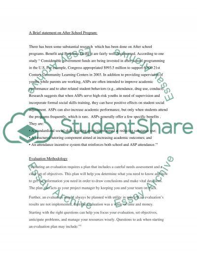 Health Program Evaluation Master Essay essay example