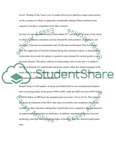 The Competitive Advantage of China essay example