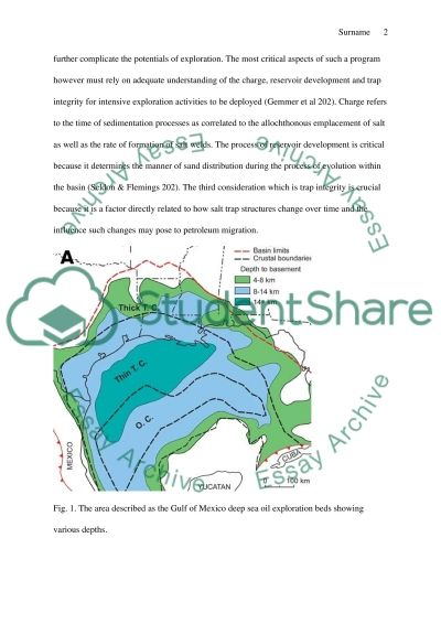 The formation of Salt Traps and their importance in the Gulf of Mexico essay example