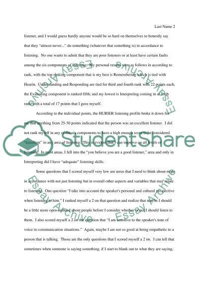 hurier listening self assessment essay example topics and well hurier listening self assessment essay example