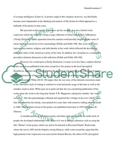 Biographical Research Essay