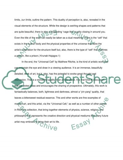 Matthew Ritchie The Universal Cell essay example
