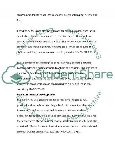Boarding Schools essay example
