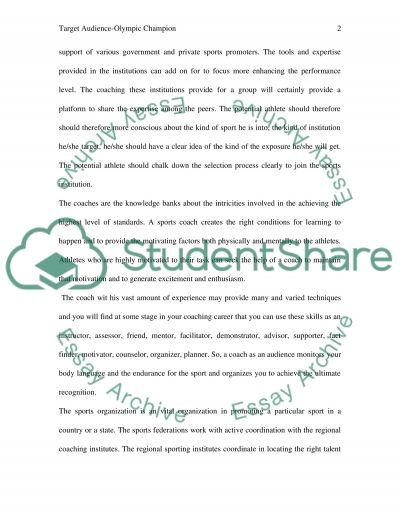 Description of Target Audience essay example