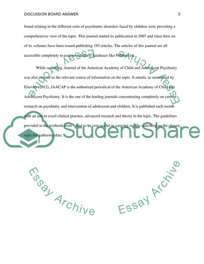Bibliography and Discussion Board Answer