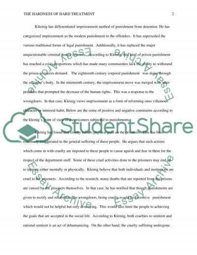 Hard Treatment essay example