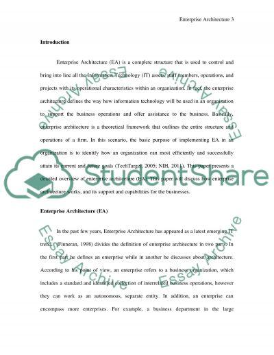 EA Enables Process Paper essay example