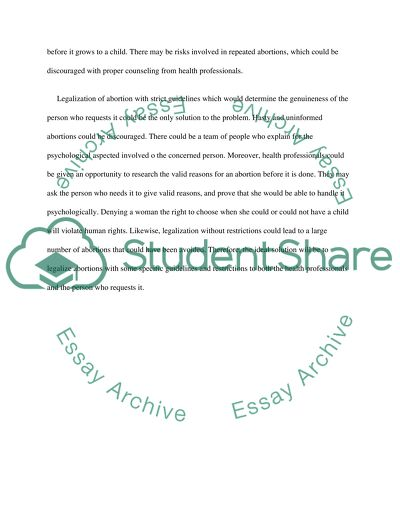 Developing the thesis statement
