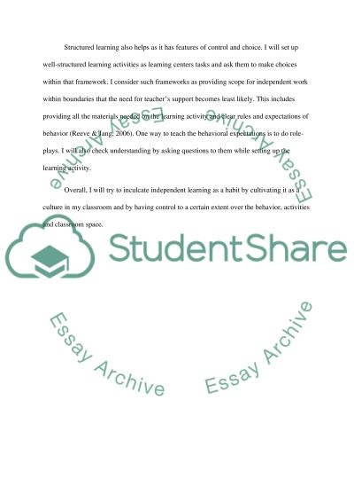 Learning Centers in Elementary Education