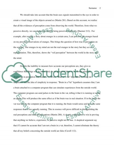 Phil102 - Knowledge and Reality assignment 2 essay example