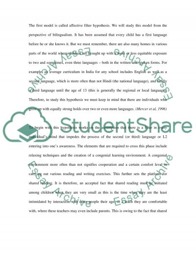The Effect of Shared Reading on Communicative Competency essay example