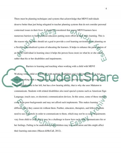 Reflective essay on disabilities list