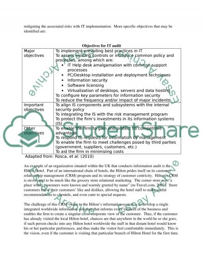 Contribution of an information audit to an information systems strategy Essay example