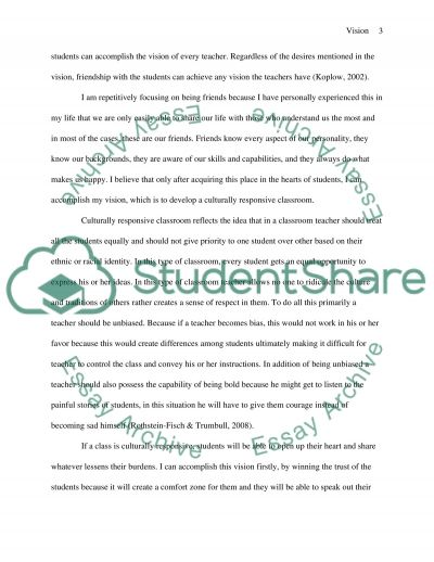 Vision of the Teacher's Profession essay example
